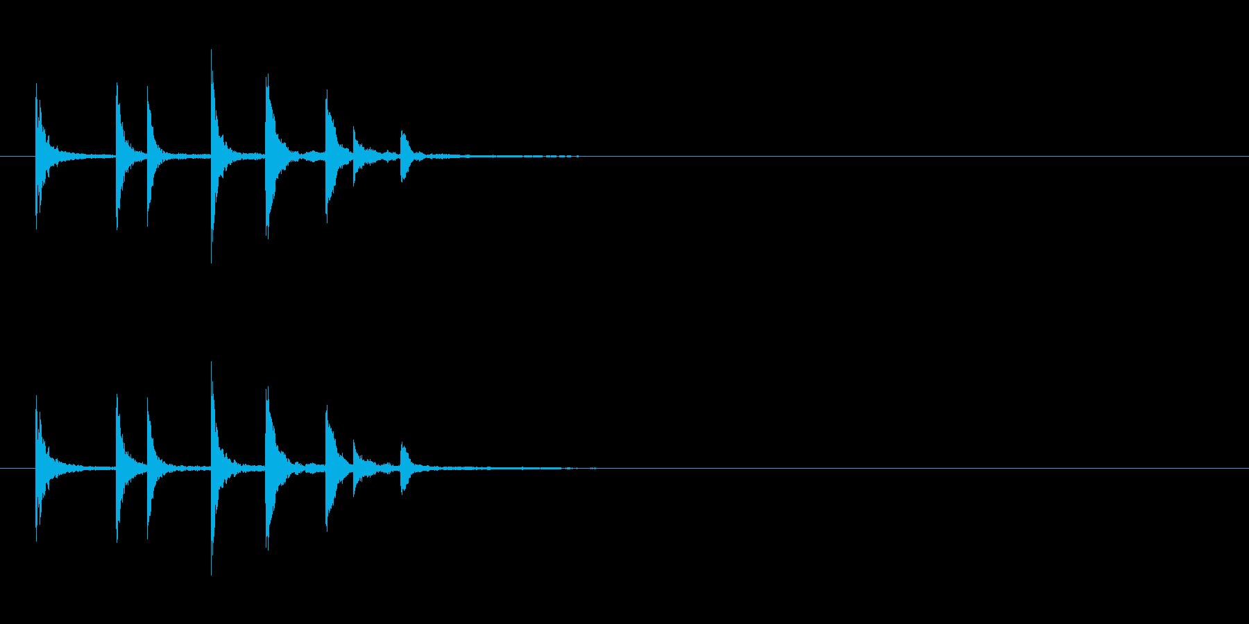物が落ちる音 7の再生済みの波形