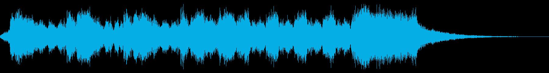 豪華なファンファーレ・結果発表前・欧風の再生済みの波形