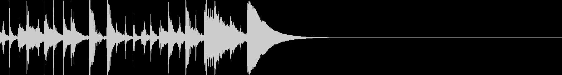 打楽器だけで構成されたショートOP用音源の未再生の波形