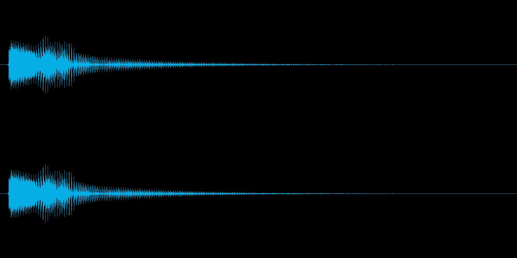 コミカルなジャンプ音 ボイン ビョン1の再生済みの波形