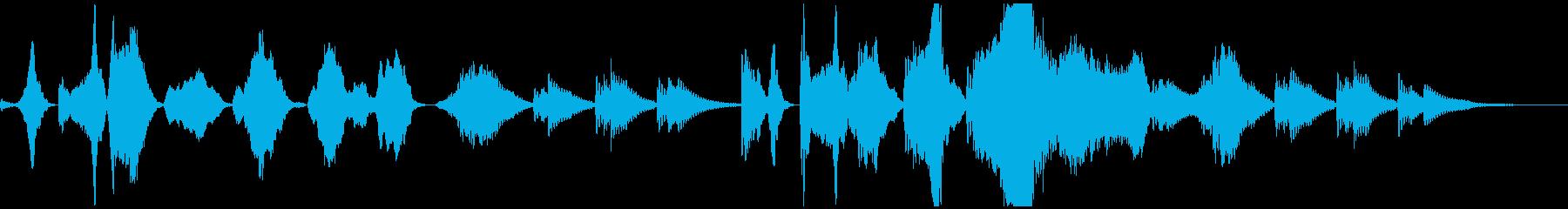 ホラー・事件・ミステリーで怖いフルート曲の再生済みの波形