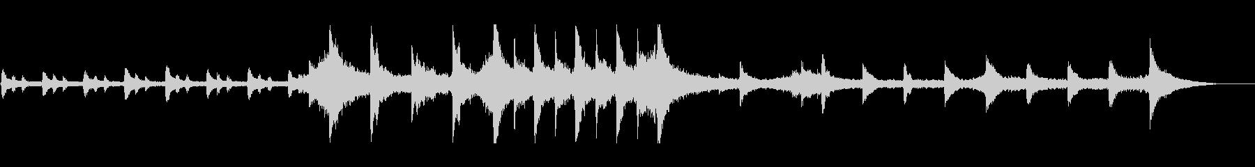 ファンタジーの幸せなクライマックス音楽の未再生の波形