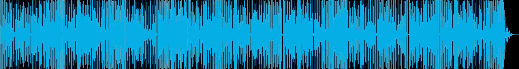 シンセサイザーのポップビートの再生済みの波形