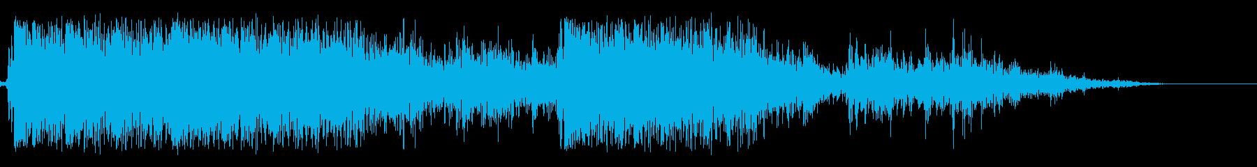 【銃声音008】3発発砲の再生済みの波形
