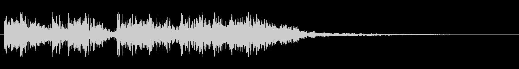 派手でリズミカルなロック風ジングル短の未再生の波形