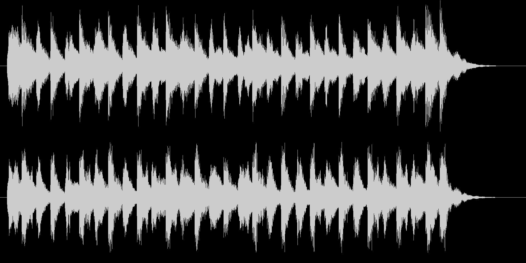 キュートで軽やかなライトオーケストラロゴの未再生の波形