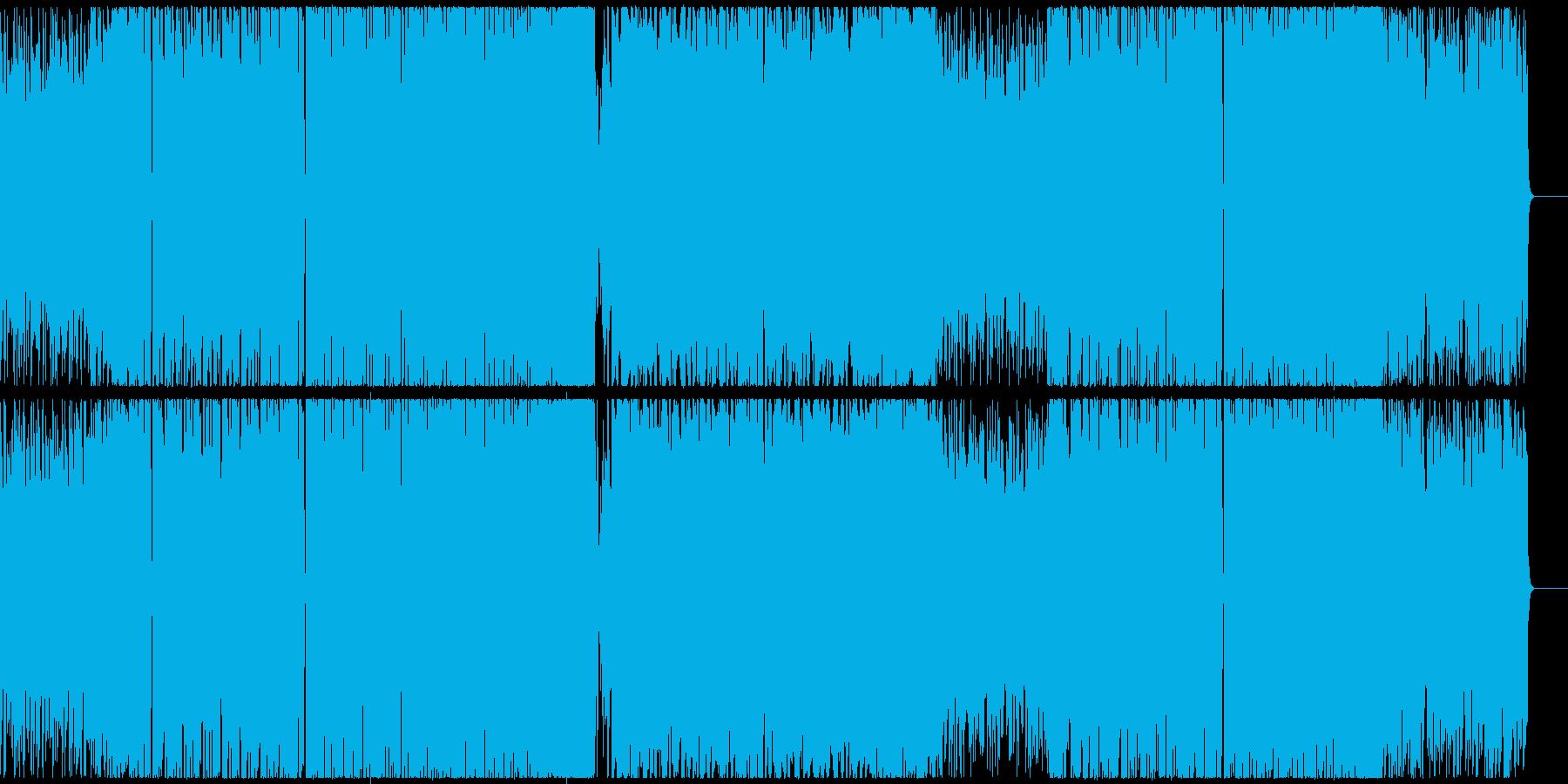 ポップでキャッチーなシンセのEDMの再生済みの波形