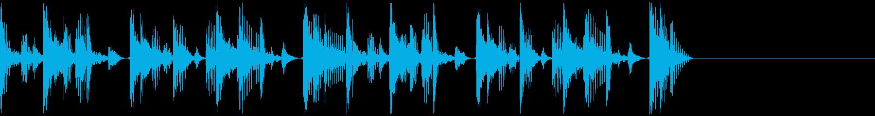 ファンキーなジングルですの再生済みの波形