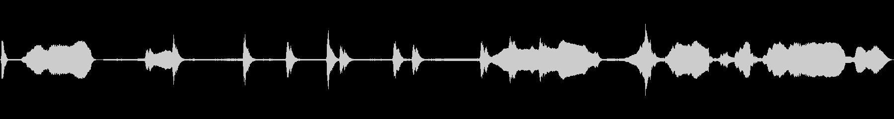 工事の音(電動のこぎりとネイルガン)の未再生の波形