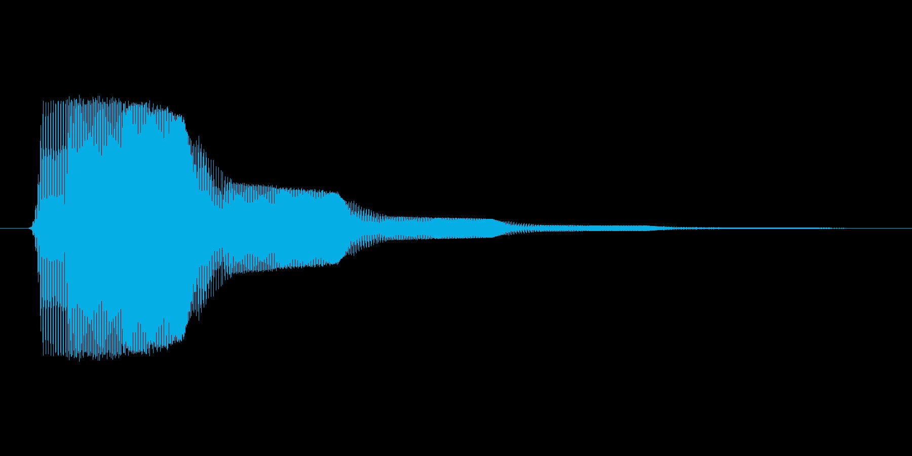 ファミコン風効果音決定音系です 04の再生済みの波形