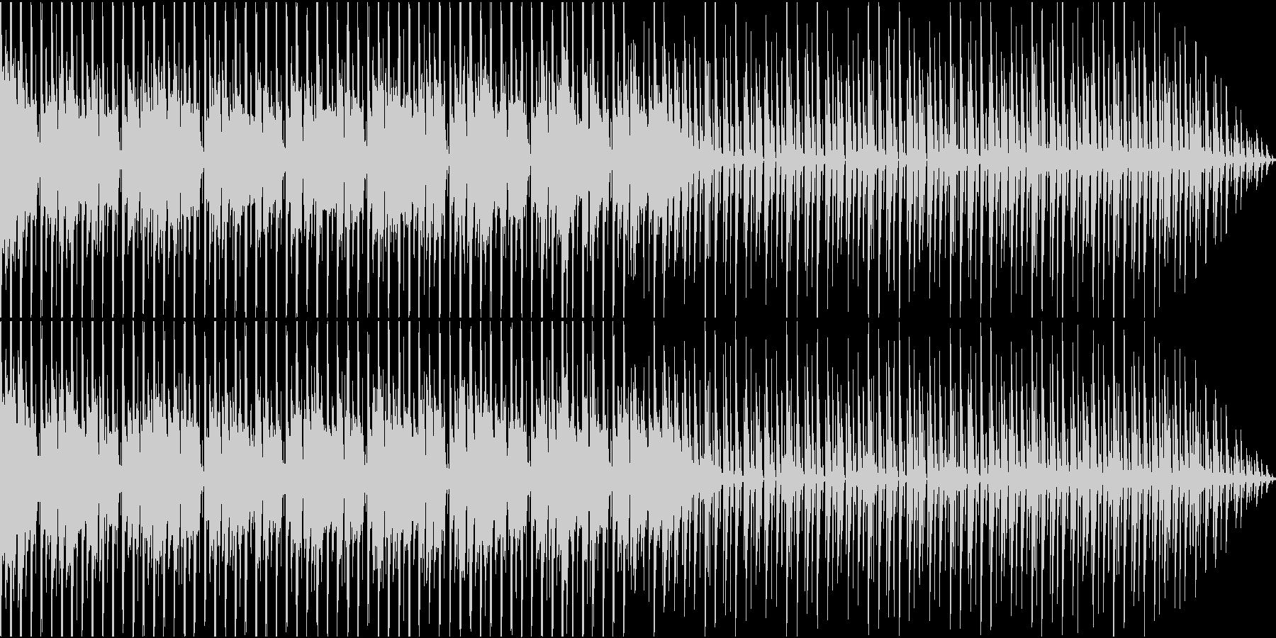シンプルでファンキーなテクノハウスの未再生の波形