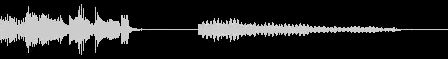 ローズエレピの可愛いジングルの未再生の波形