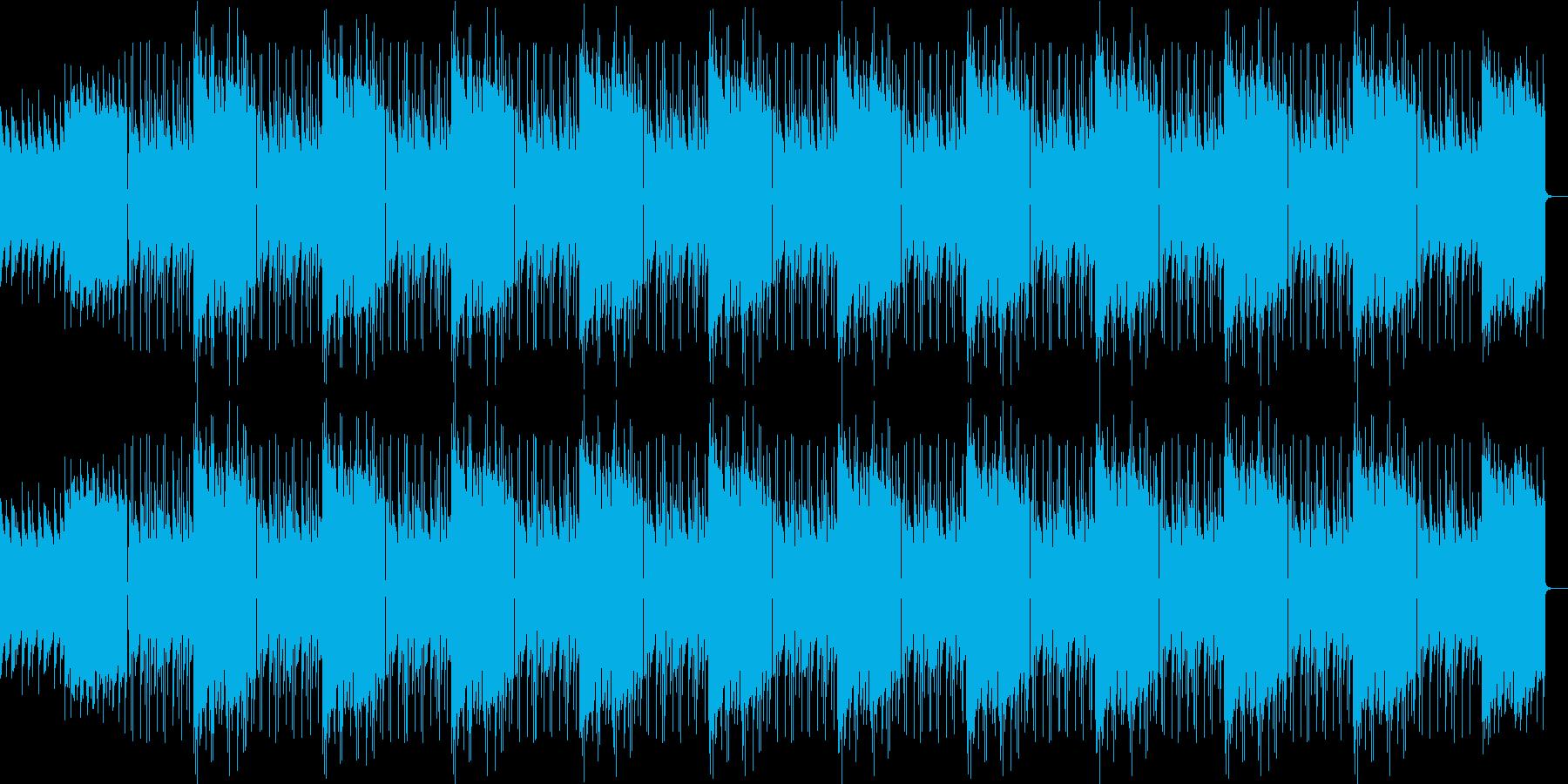 少し重めのピアノのループの再生済みの波形