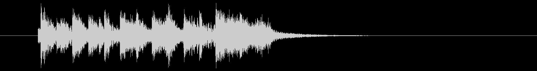 チャラチャラッチャチャチャン(区切り)の未再生の波形