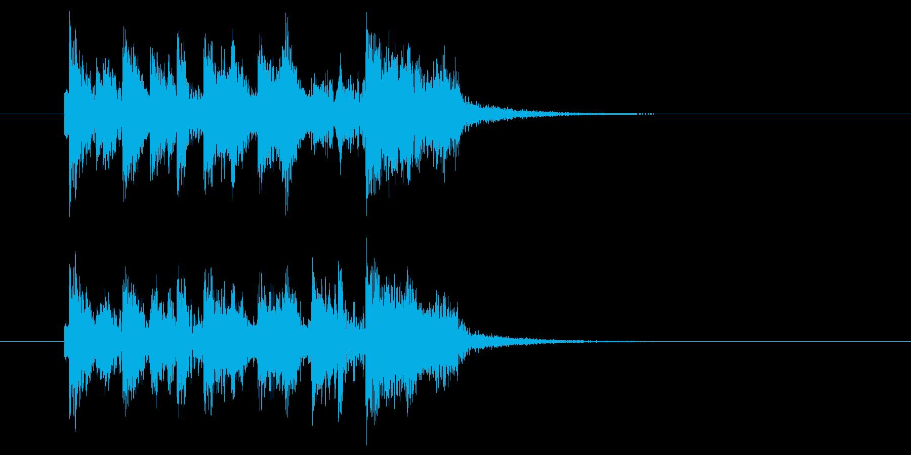 チャラチャラッチャチャチャン(区切り)の再生済みの波形