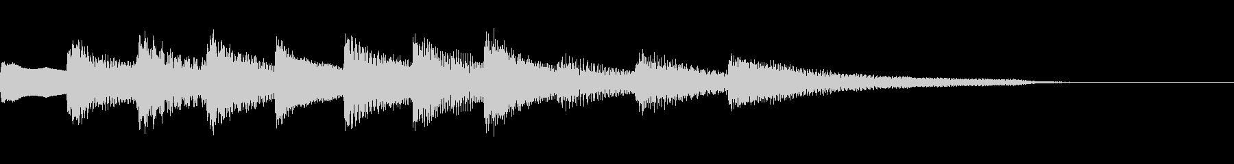 ゆったりとしたピアノのジングル17の未再生の波形