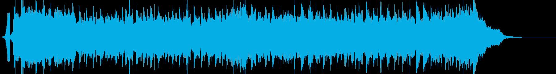 サッカーのゴールシーンの絶叫ユーロビートの再生済みの波形