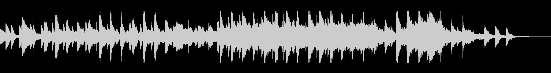 ピアノとストリングスのサウンドトラックの未再生の波形