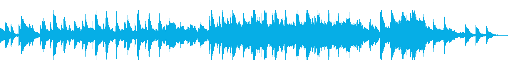 ピアノとストリングスのサウンドトラックの再生済みの波形