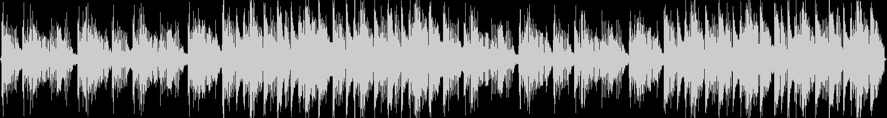 明るく軽快なゲームBGM風の未再生の波形