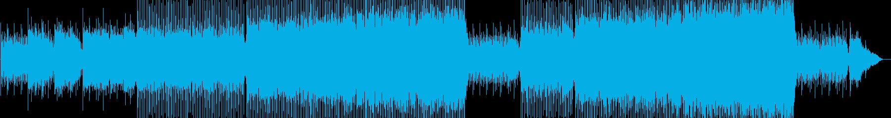 爽やかなピアノ木管ストリングス 8ビートの再生済みの波形