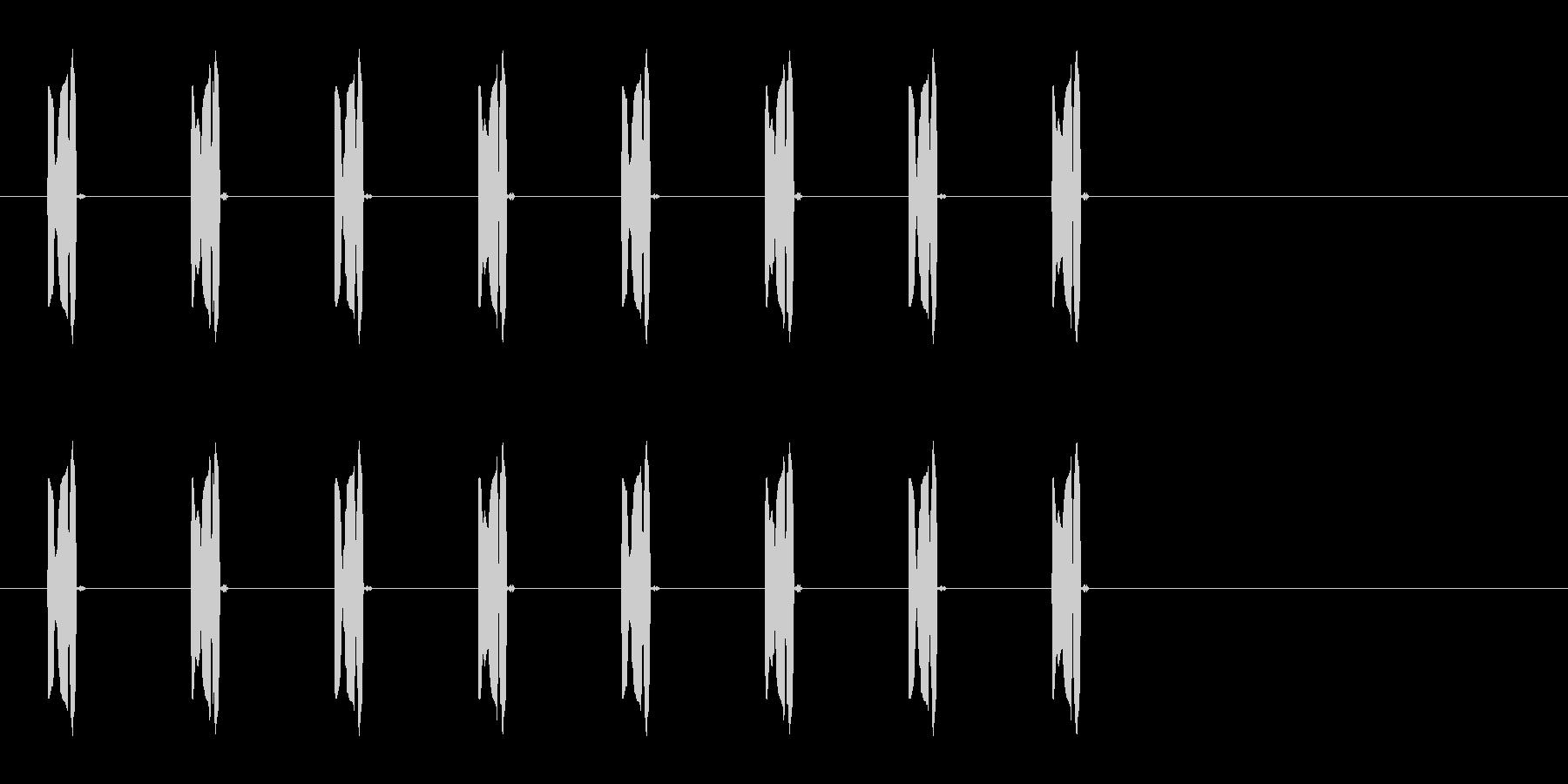 コミカルな足音A-2-3の未再生の波形
