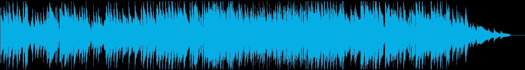 美しいジャズ・ワルツ、軽快なリズムの再生済みの波形