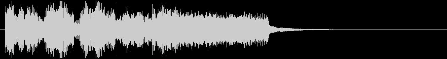 鋭いジャズサウンドロゴ、アイキャッチの未再生の波形