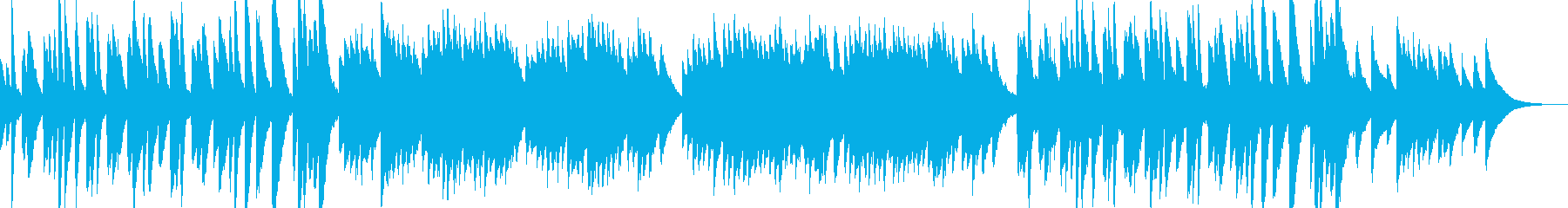 ピアノの音色と旋律が特徴的なアンビエントの再生済みの波形