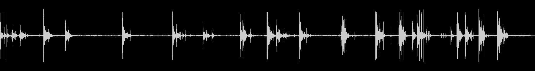 メタルボウルウッドドロップの未再生の波形