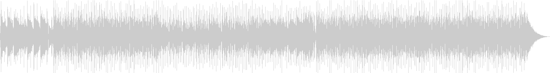 とびっきりHAPPYな曲の未再生の波形