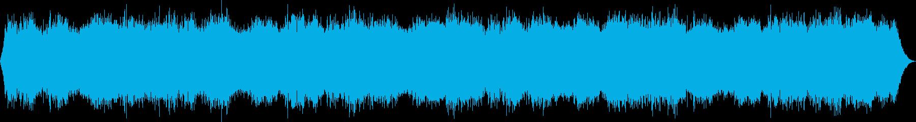 不気味に軋むドア・ホラーアンビエントの再生済みの波形
