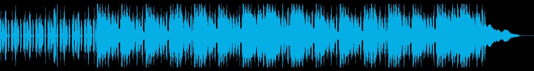 クールな映像向けのBGMの再生済みの波形