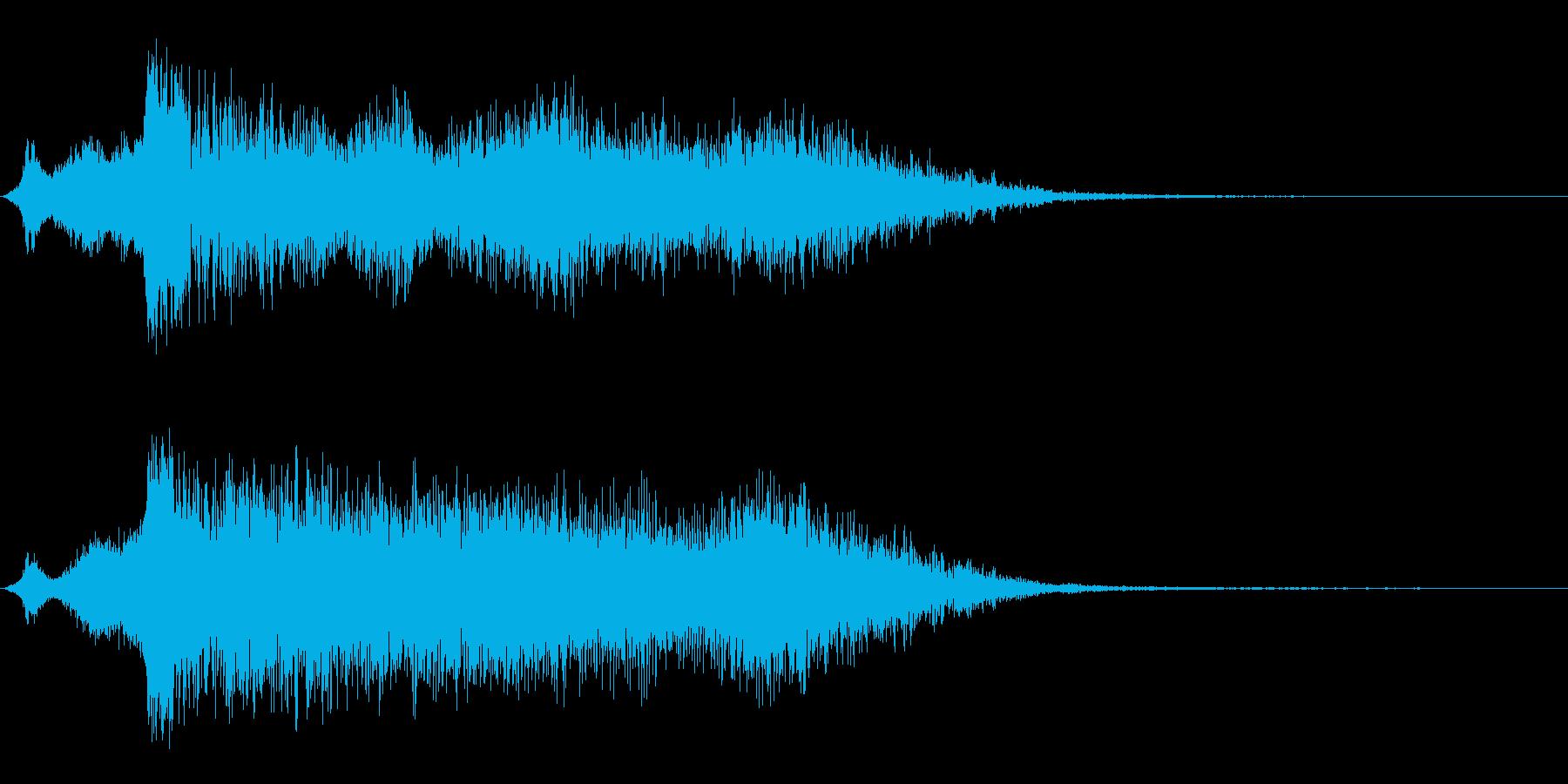 パンチとグライドの再生済みの波形