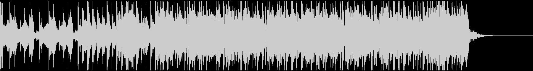 ハードでドラムンベースなジングルの未再生の波形