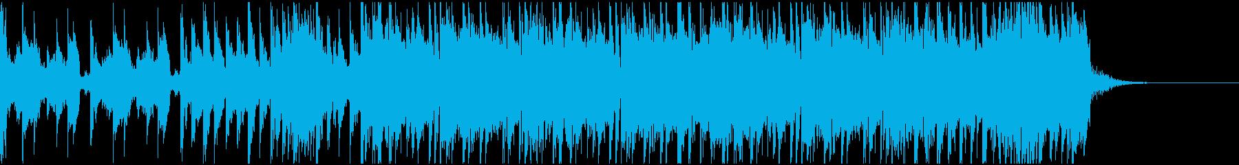 ハードでドラムンベースなジングルの再生済みの波形