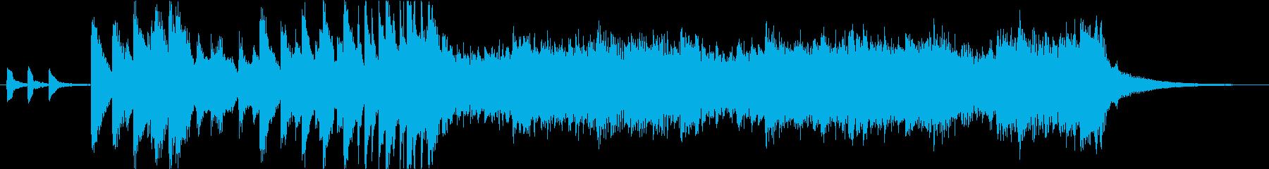 可愛らしいオープニングジングルの再生済みの波形