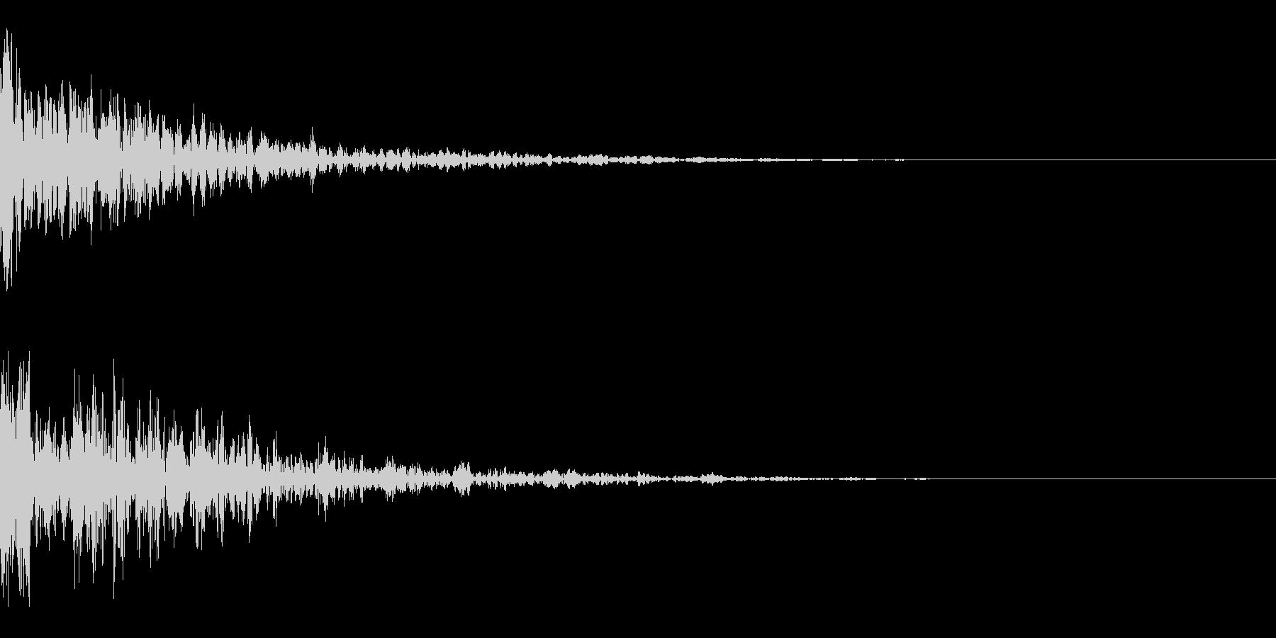 ドーン-30-2(インパクト音)の未再生の波形