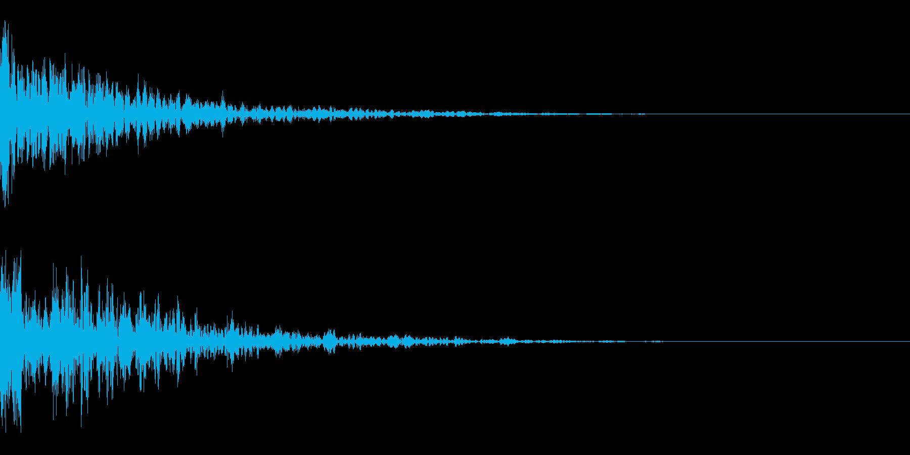 ドーン-30-2(インパクト音)の再生済みの波形