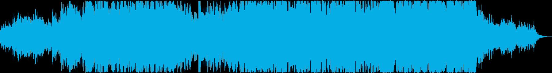 アンビエントでインスピレーションのある曲の再生済みの波形