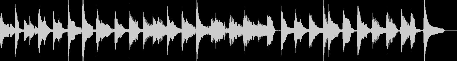 ウクレレ1本のみ(ストローク+メロディ)の未再生の波形