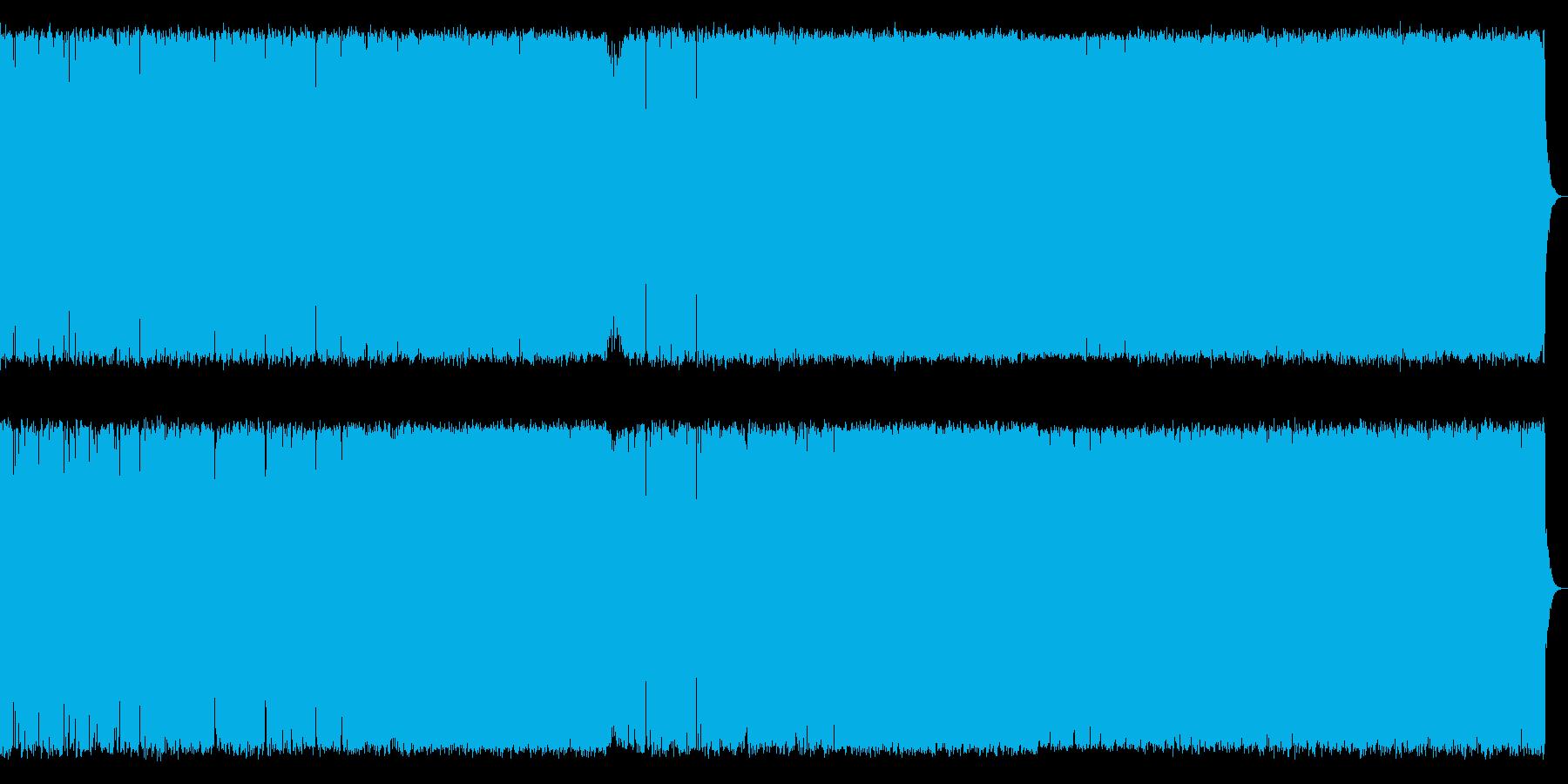 険しい山を演出したメタルギター系の曲<…の再生済みの波形