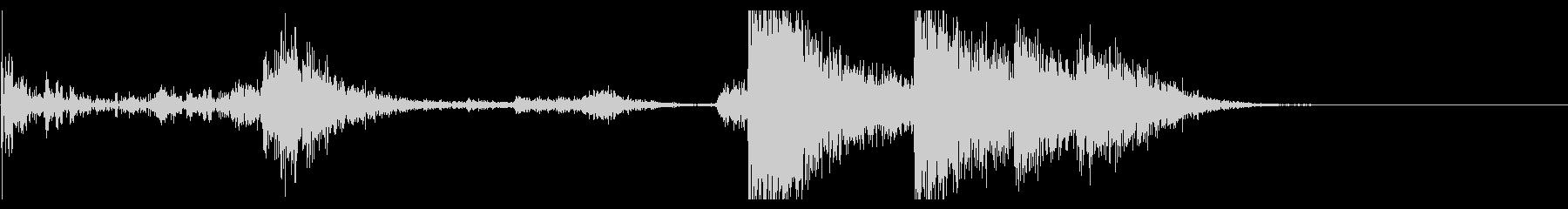 【生録音】ブリキのバケツの音 学校 6の未再生の波形