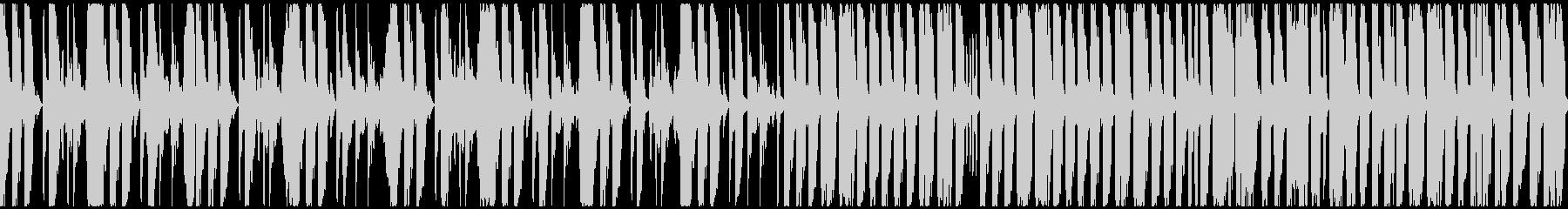 声ネタとドラムによる奇天烈な曲ですの未再生の波形