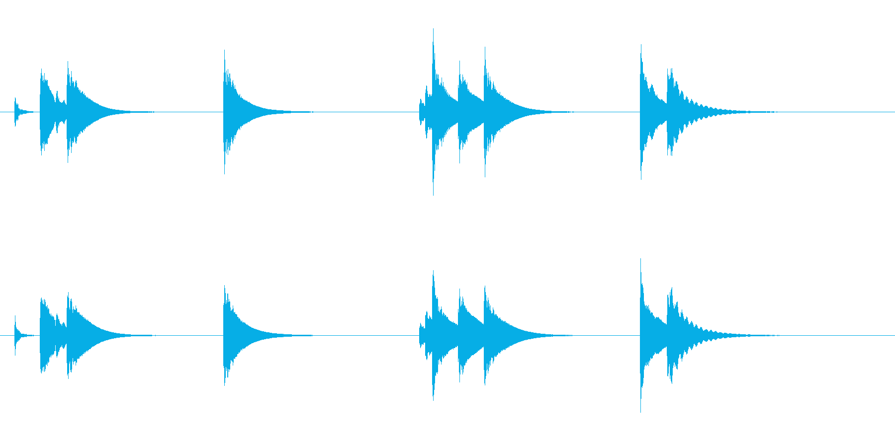 土着的トーキングドラムのフレーズ音の再生済みの波形