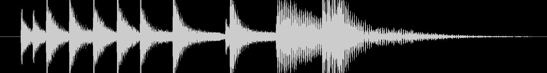 壺をたたいたエスニックな音の未再生の波形