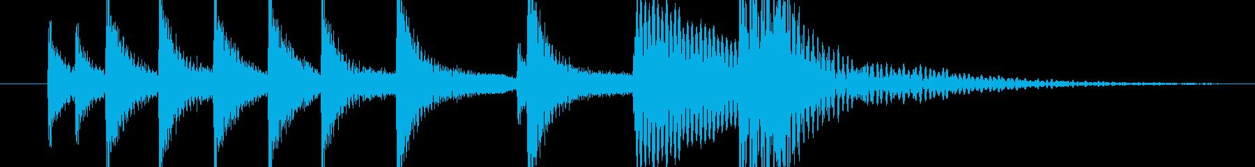 壺をたたいたエスニックな音の再生済みの波形