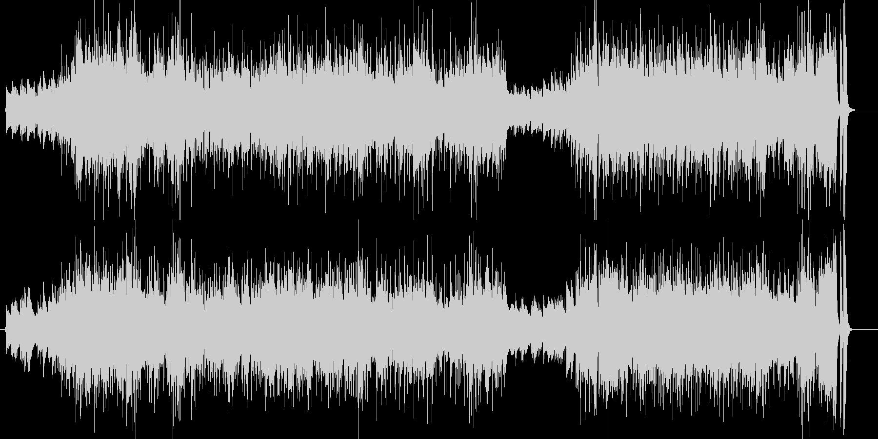 都会的な雰囲気のピアノ曲の未再生の波形