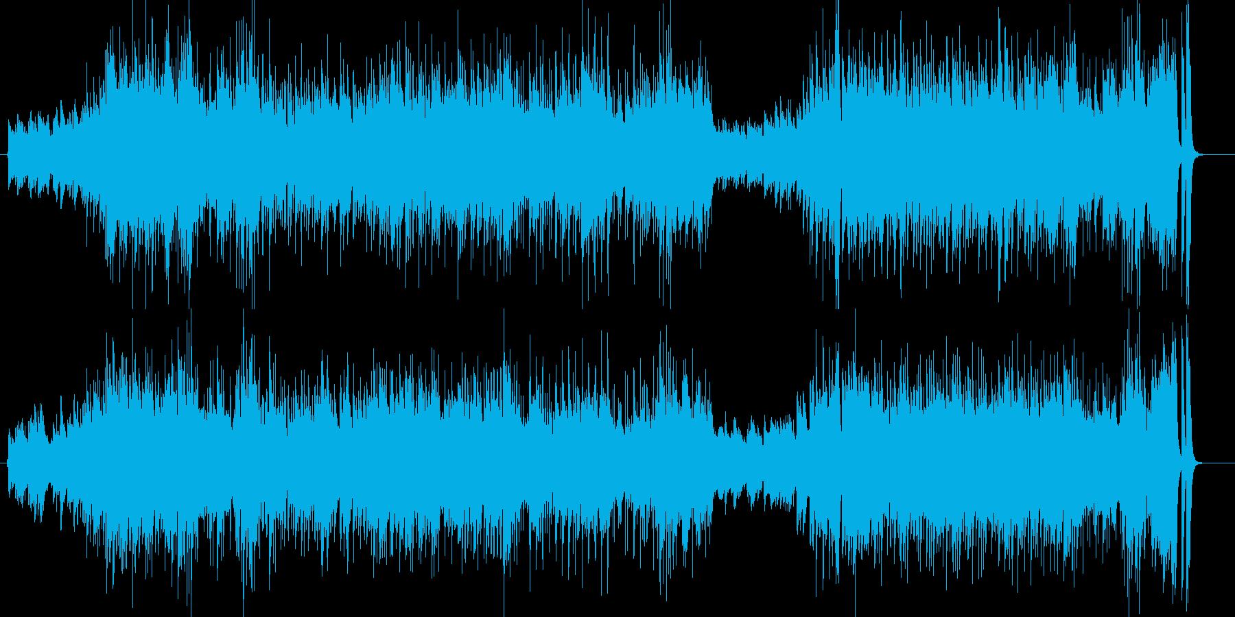 都会的な雰囲気のピアノ曲の再生済みの波形