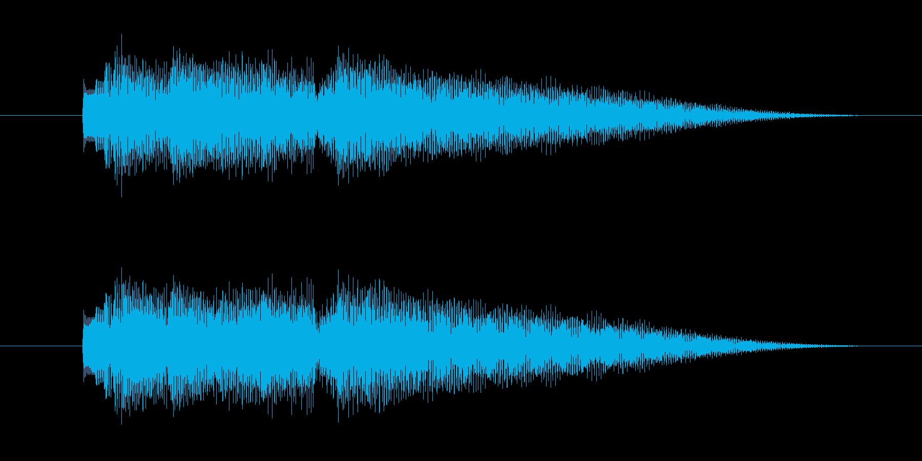 ゲーム内の日付や季節・場面のカットイン…の再生済みの波形